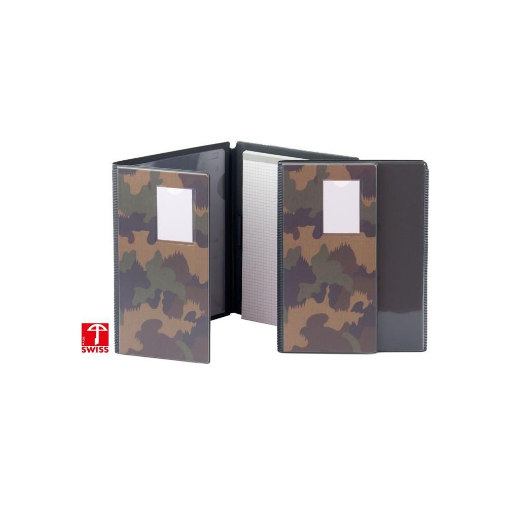 Cartable avec bloc A5 camo