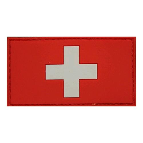 Patch drapeau Suisse rouge blanc