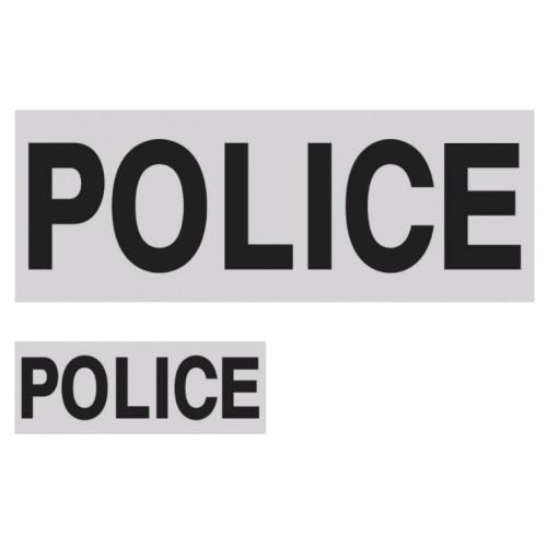 Lot de 1 dossard + 1 Bande poitrine POLICE gris