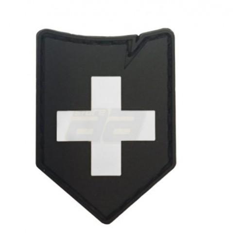 Patch Suisse noir 37x45mm