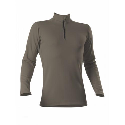 Roll-shirt zip comfortrust men TS olive