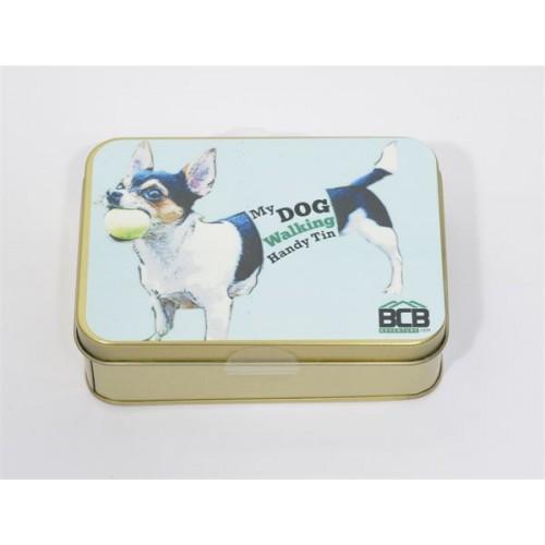 "Box of ""My Dog Walking Handy Tin"""