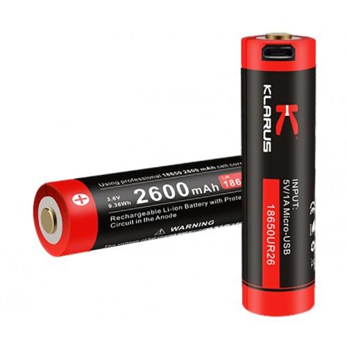 Batterie rechargeable prise micro USB 2600mAh 3.6